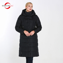 MODERN NEW SAGA 2019 Autumn Women Jacket Zipper Hooded Coat High-Quality Thin Cotton Padded Womens Warm Parkas