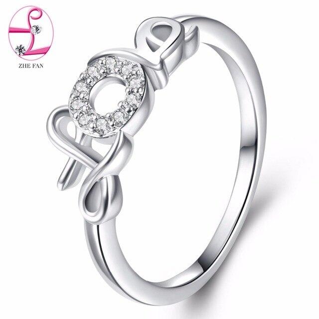 US $2 55 49% OFF|ZHE FAN Women Love Letter Rings For Girlfriend Beloved AAA  Cubic Zirconia Jewellery White Purple Valentine's Day Gifts-in Rings from