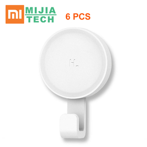 Image 1 - Origina Xiaomi Mi Little Adhesive Hooks Strong Bathroom bedroom Kitchen Wall Hooks 3kg max load up new arrival for xiaomi life