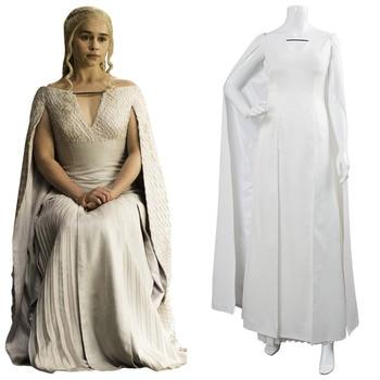 Game of Thrones Cosplay Daenerys Targaryen Cosplay Costume Season 5 Mother of Dragon Khaleesi Outfit Halloween Carnival Costumes