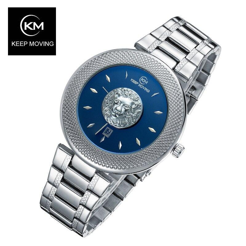 Lion Kopf Uhr Männer Rose Gold Uhr Männer Top Berühmte Marke Luxus Casual Leder Quarzuhr Relogio Masculino Männlich Uhr-in Quarz-Uhren aus Uhren bei  Gruppe 3
