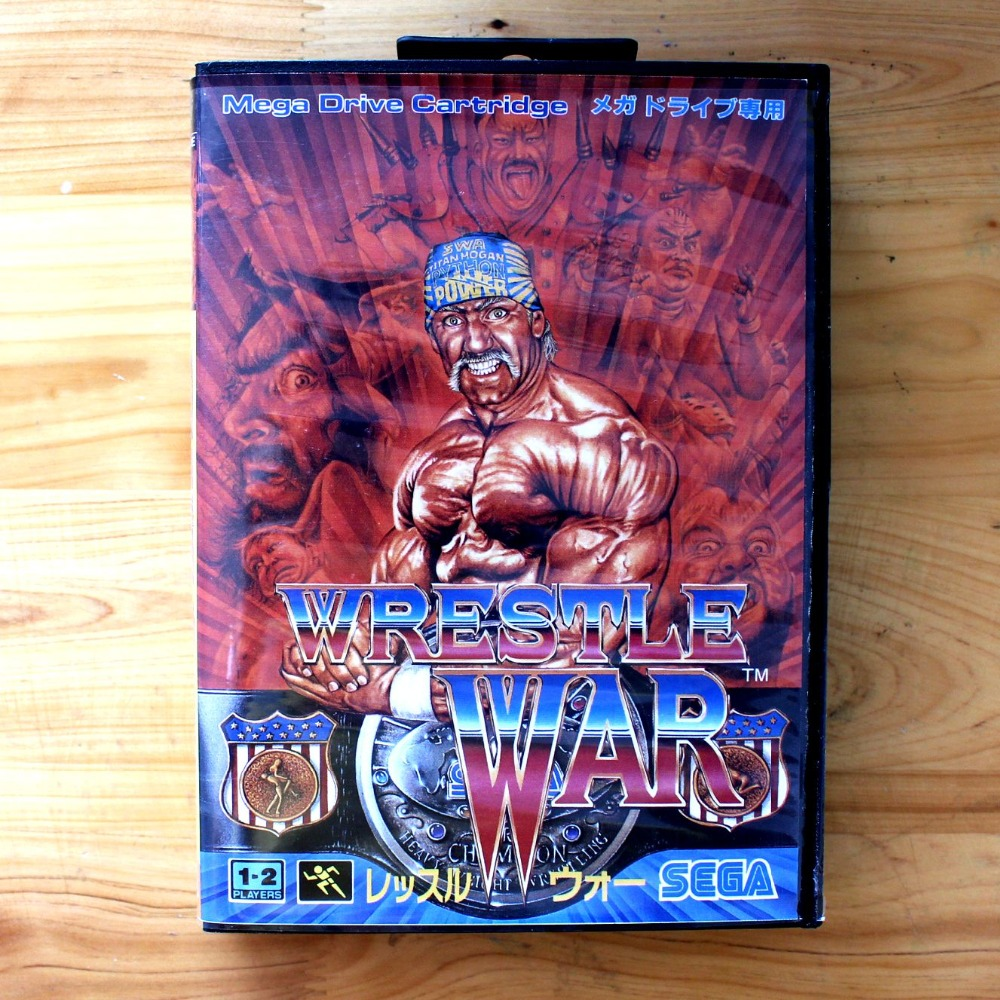 Wrestle War 16 Bit MD Game Card with Retail Box for Sega MegaDrive & Genesis Video Game console system