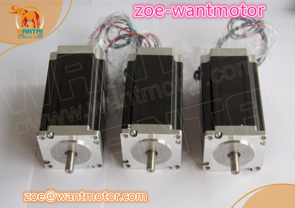 High quality!3 pcs Nema 23 Wantai stepper motor WT57STH115-<font><b>4204A</b></font> 425oz-in 3A CE ROHS ISO plasmer cutter cnc image