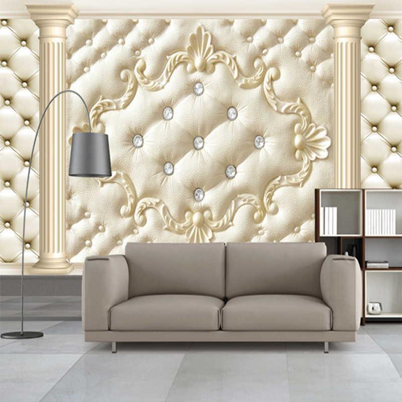 럭셔리 라인 석 클래식 사진 벽 종이 홈 장식 벽지 3d 벽화 배경 화면 풍경 거실 papel parede sala rolo