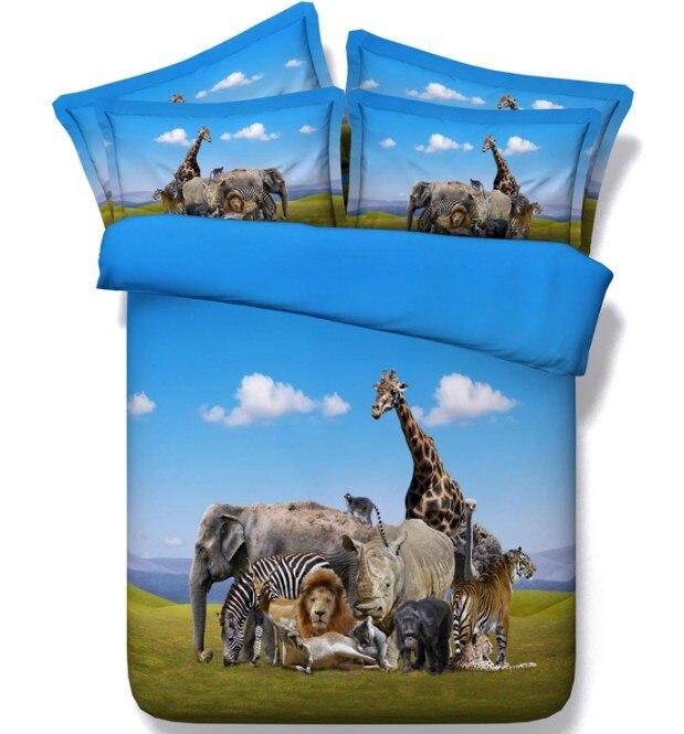 ღ Ƹ̵̡Ӝ̵̨̄Ʒ ღ3D sábana consolador establece elefante caballo