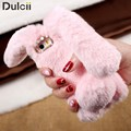 for iPhone 6s fundas Bag Cover Cute Cases Rabbit Bunny Warm Furry Fur Phone Case for iPhone 6 6s Plus iPhone 7 7 Plus SE Coque