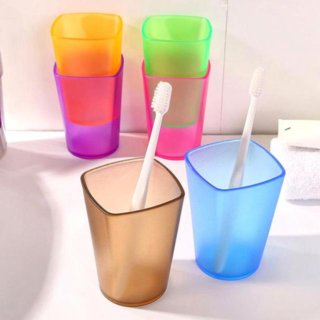 High Quality Toothbrush Cup Wash Gargle Cup Translucent Frosted Rinsing Mug Couple Rinse Brush Cup