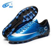 ZHENZU nuevo adultos hombres fútbol al aire libre zapatos Top TF FG botas  de fútbol entrenamiento deportivo zapatillas más tamañ. 9b0856535aed4