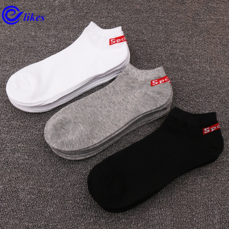 5 pairs mens cotton ankle   socks   plus large big size43, 44, 45, 46, casual boat   socks   calcetines