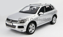 *Silver 1:18 Volkswagen VW Touareg SUV Diecast Model Car Classical MPV Collection Off Road Commercial Vehicle