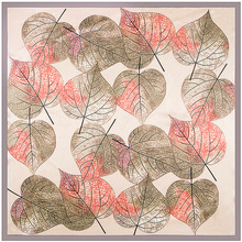 Women Leaf Oil Painting Scarf
