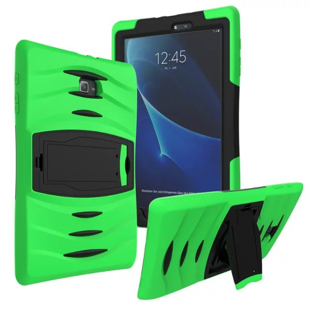 все цены на For Samsung Galaxy Tab A 10.1 T585 T580 T580N SM-T580 case Hybrid PC + Silicone Shockproof  Heavy Duty Armor Tablet Cover онлайн