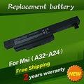 Jigu a32-a24 batería del ordenador portátil para msi cx480 cx480mx ser e4212 md97823 md98039 md98042 series