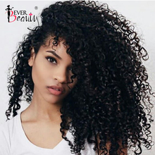 3B 3C Kinky Curly Clip In Human Hair Extensions For Women Mo