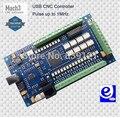 4 eixos CNC USB Mach3 e-corte movimento Controller Card Interface Breakout Board 1 Mhz entrada 5 v ou 24 v