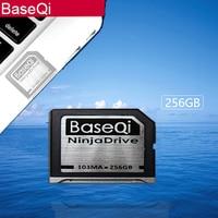 BaseQi NinjaDrive алюминий 256 ГБ расширения памяти SD карты для MacBook Air 13 и MacBook Pro 13/15 (не retina)