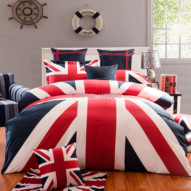Beautiful British Flag Velvet Plush Bedding Set Designer