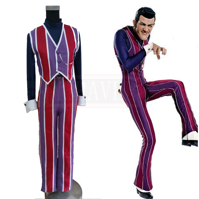 LazyTown Robbie Rotten Costume Cosplay Full Set Custom-Made