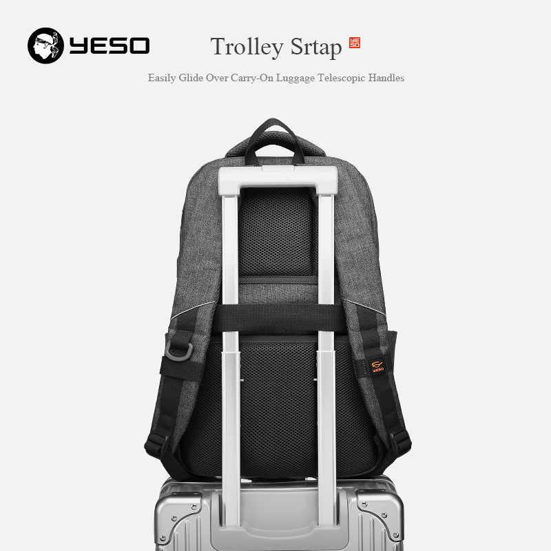 Yeso mochila de grande capacidade com carregamento usb multifuncional adolescente negócios escola viagem mochilas para o portátil feminino