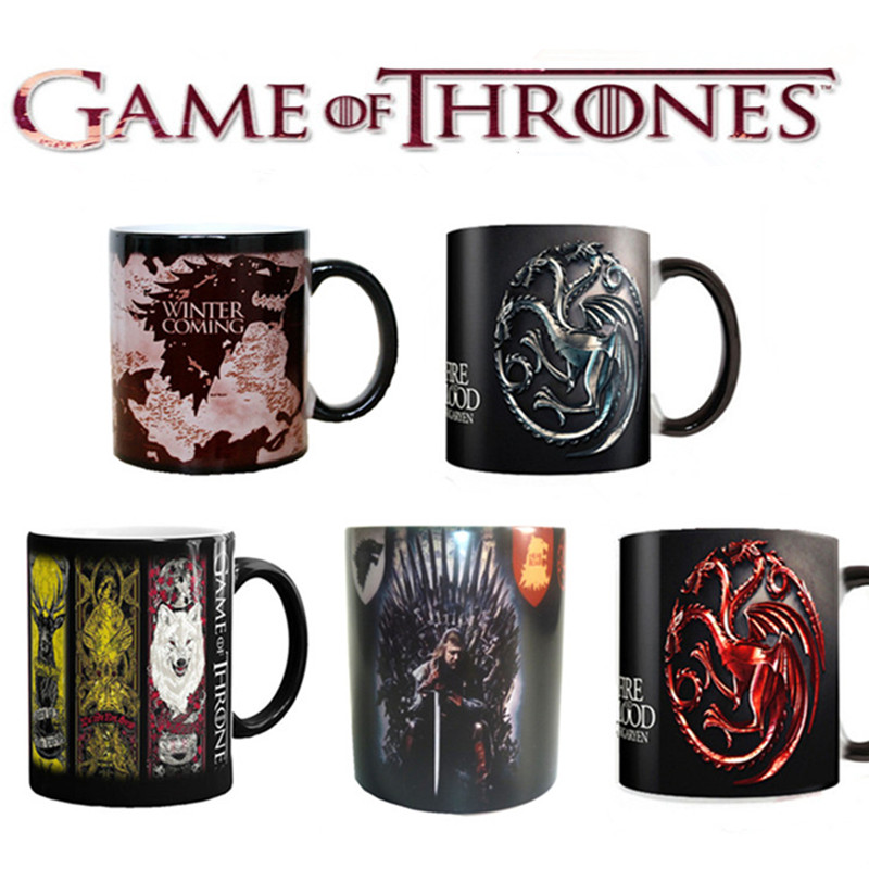 Game of Thrones Right Series Coffee Cup Mug Mark Color Changing Cups Sensitive Ceramic Tea La