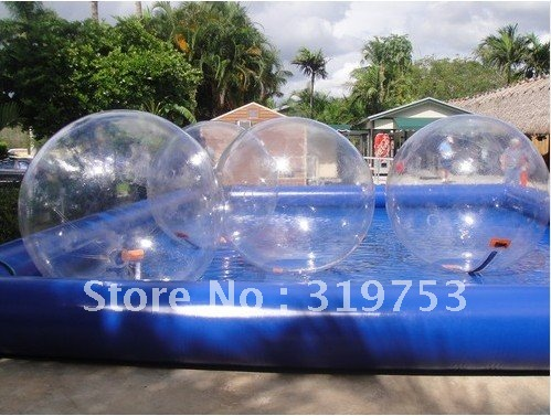 4 pieceX2M Water Walking Ball// 8M x 7M Inflatable swimming pool water Factory outlets  FREE blower  DHL Free shipping
