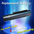 JIGU BLACK  battery For Acer Aspire One A110 A150 D210 D150 D250 ZG5 UM08A31 UM08A32 UM08A51 UM08A52 UM08A71 UM08A72 UM08A73