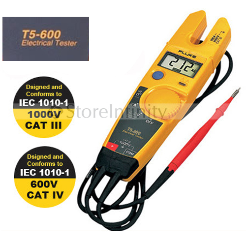 Free Shipping FLUKE T5 600 Clamp Meter Continuity Current Electrical Tester With Current