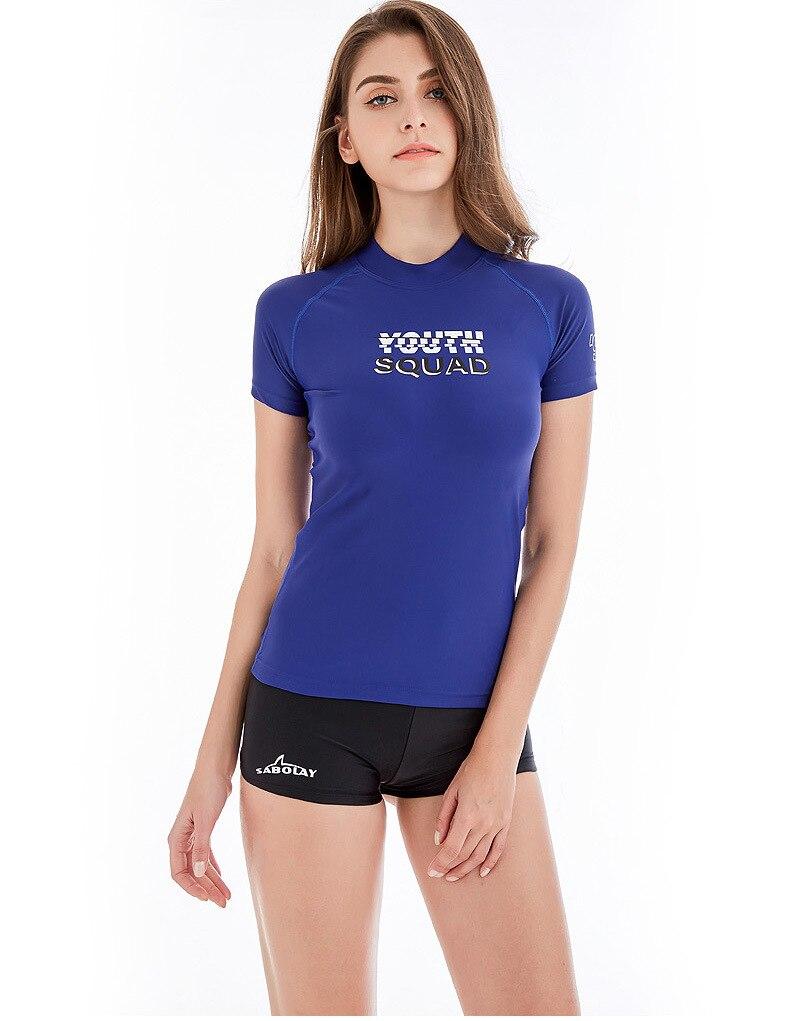 75af260fc05 Sabolay lycra rashguard women short sleeves windsurfing swimwear jpg  790x1021 Shirt bathing suit
