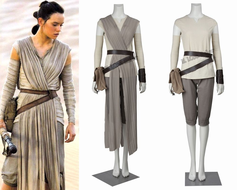 online shop hot 2016 star wars costume adult the force awakens rey