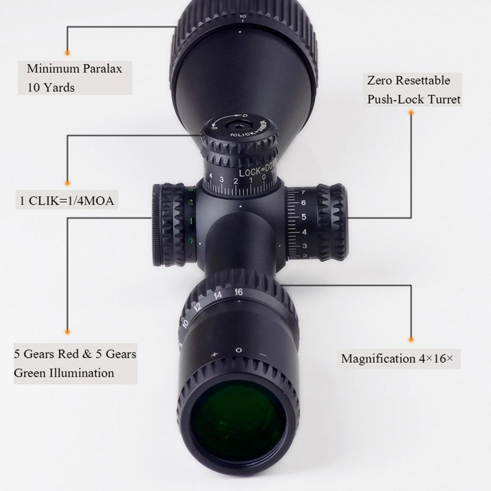 DISCOVERY Optics VT-Z 4-16x44AOE Shock Proof Zero Lock Hunting Rifle Scope