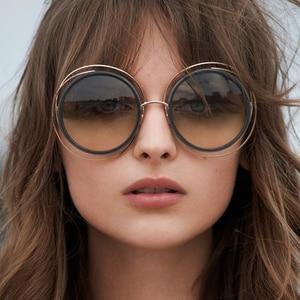 Carlina Oversized Round Sunglasses Women Brand Designer Sun Glasses Female Quality Ladies Shades Mirror lunette T829