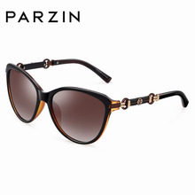 PARZIN Elegant Female TAC Sunglasses Vintage Shades For Women Luxury Acetate Frame