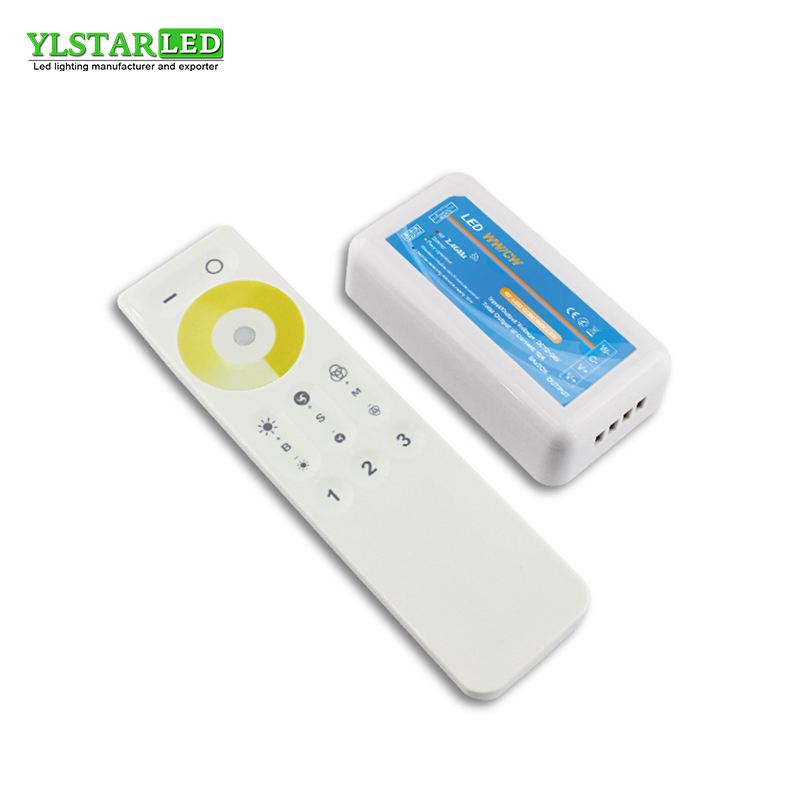 YLSTAR <font><b>12V</b></font> 24V 2.4G <font><b>RF</b></font> Wireless 3 Zone Color Temperature Adjustable CCT dimming Controller <font><b>Dimmer</b></font> for WW/CW Dual <font><b>LED</b></font> Lamp Strip