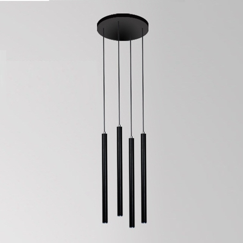LukLoy Pendant Lights 4 Heads 3cm Modern Kitchen Lamp Dining Living Room Shop Light Pipe Pendant Lights Bar Counter Spot Light a1 master bedroom living room lamp crystal pendant lights dining room lamp european style dual use fashion pendant lamps
