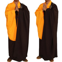 New Unisex Buddhist Monk Robe Zen Meditation Monk Robes Shaolin Temple Monk Clothes Kung Fu Uniform Suits Monk Costume Robes(China)