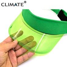 Климат крутой солнцезащитный козырек отвесный модный прозрачный пластиковый козырек летняя кепка Солнцезащитная шляпа воздушный солнцезащитный козырек Топ Кепка s отдых пляж Casquette