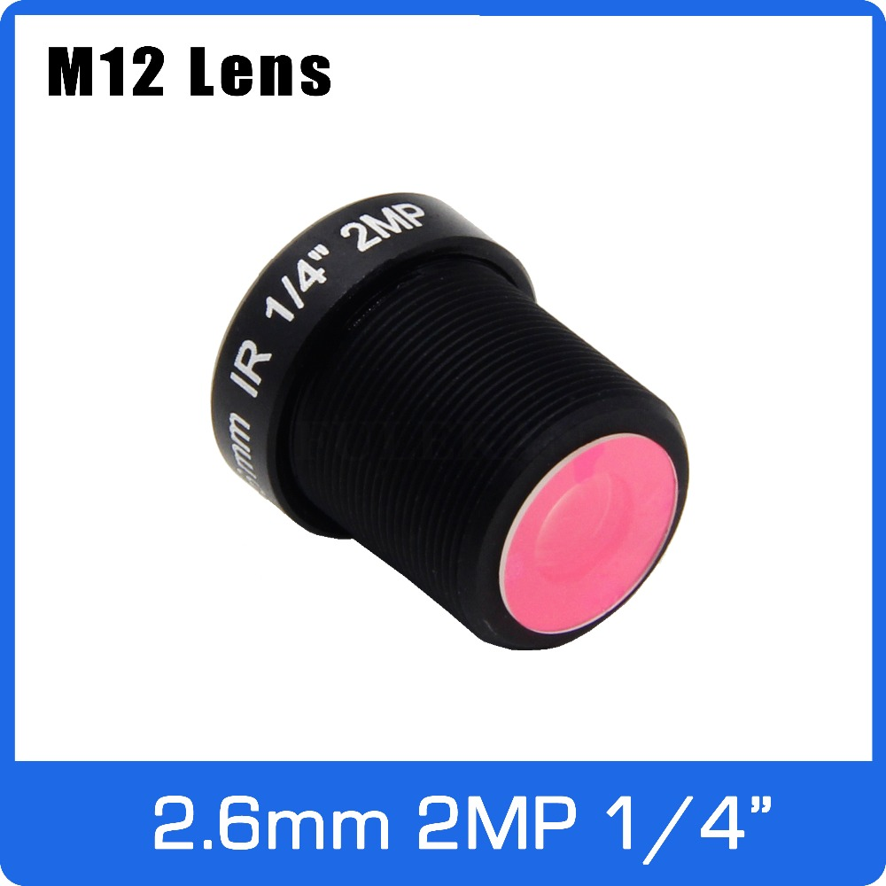 2Megapixel IR Filter M12 Fixed 1/4 Inch 2.6mm 120 Wide Angle Lens For OV9712/OV9732 Drive Recorder Or Video Doorbell
