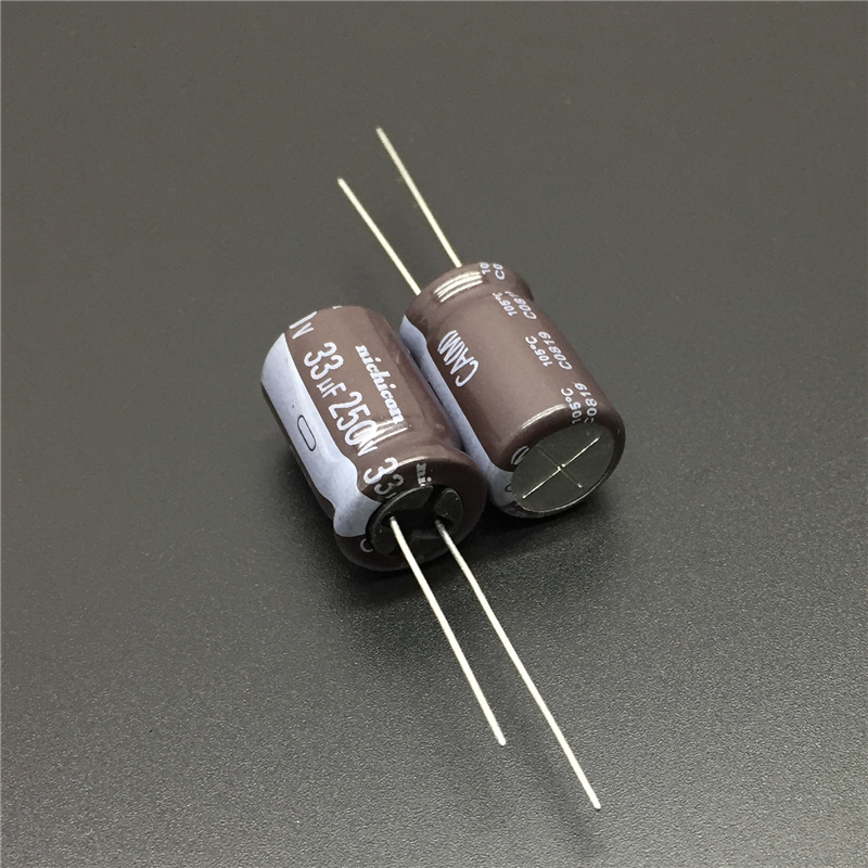 10pcs 33uF 250V NICHICON CA Series 12.5x20mm High Ripple Current Long Life 250V33uF Aluminum Electrolytic Capacitor