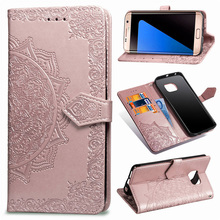 PU Leather Capa Flip Cover For Coque Samsung S7 Case S6 Smar
