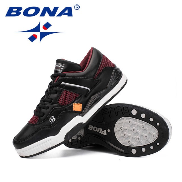 BONA New Classics Style Men Skateboarding Shoes Lace Up Men Athletic Shoes Outdoor Jogging Shoes Leather Men Sneakers Shoes