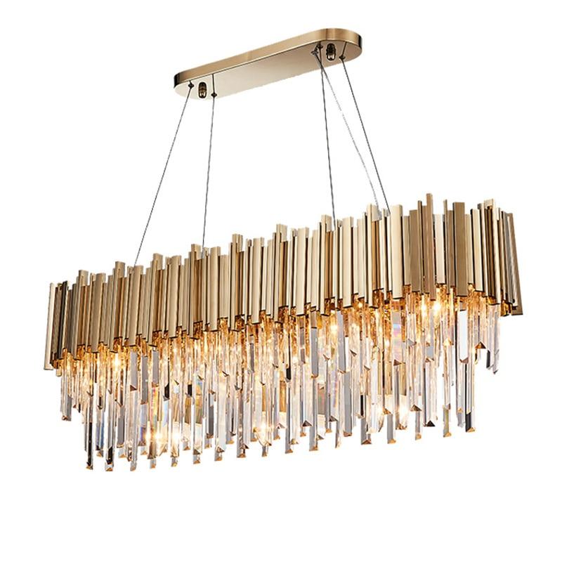 где купить Modern Gold Crystal Metal Chandelier Light Fixture Pendant Hanging lamp for Parlor Dining Room Restaurant Decoration по лучшей цене