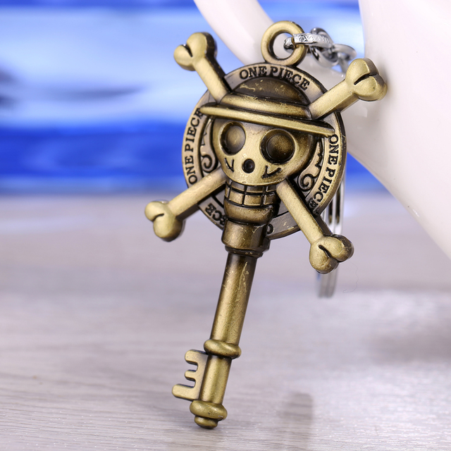 2015 new arrival One piece luffy pirate skull pendant keychain  fashion jewelry can dropshipping