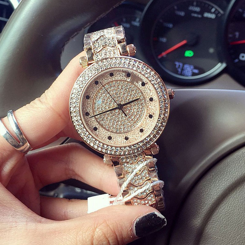 Luxury brand fashion bling bling crystal watches japan movt quartz analog women diamond watches for Celebrity quartz watch japan movt