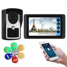 Yobang Security Video Intercom 7 Inch Monitor WIFI Wireless Video Door Phone Doorbell Visual Intercom RFID Access Control System 7 lcd wired video door phone visual video intercom door entry access system with waterproof outdoor ir camera for home security