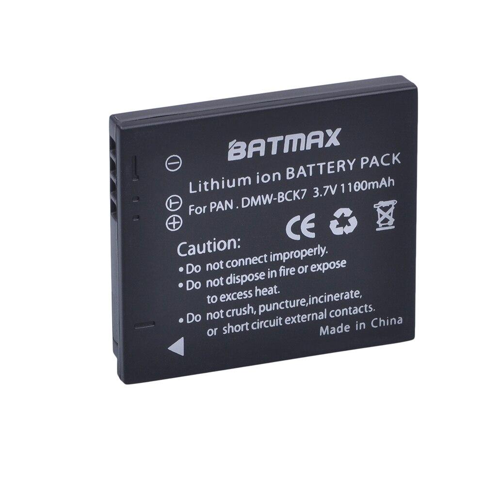 1Pc 1100mAh DMW-BCK7 NCA-YN101G BCK7 Rechargeable Battery For Panasonic Lumix DMC-FS28 DMC-FH2 DMC-FH4 FH5 FH6 FH25 FH27 FP5
