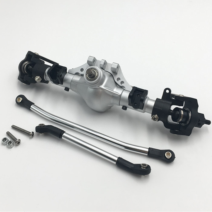 KYX 1 10 CNC alloy front rear axle for Axial scx10 ll 90046 1 10 rc