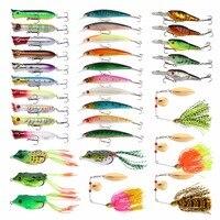 Goture 33/31pcs Mix Fishing Lure Set Kit Wobbler Isca Artificial Bait Metal Spoon/Crankbaits/Popper Carp Fishing Accessories