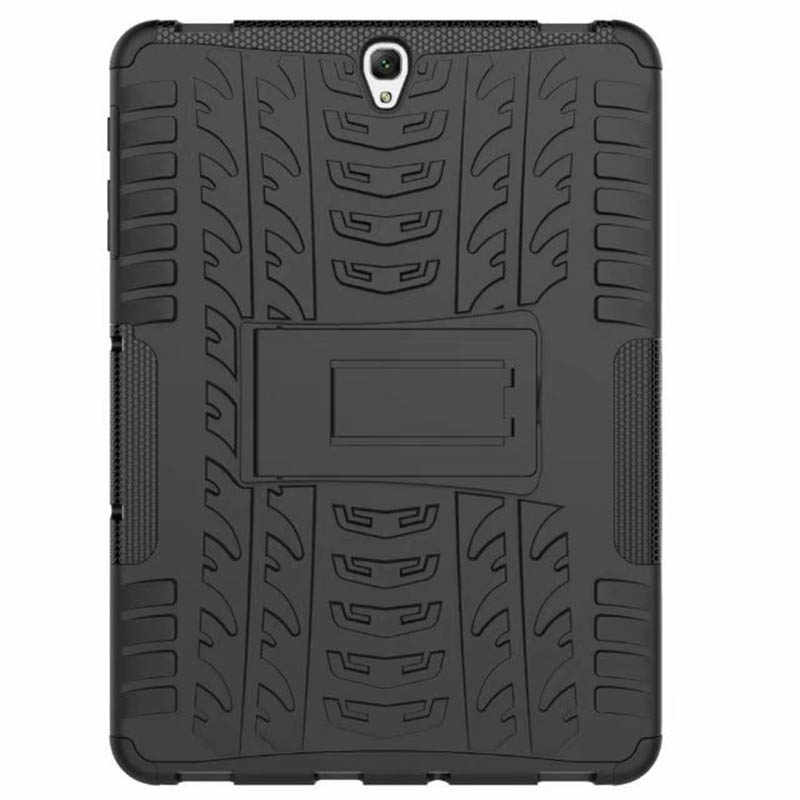 Tablet Case Voor Samsung Galaxy Tab S3 9.7 'T820 T825 Cover Case Silicon Heavy Duty Armor Band Stijl Hybrid Shockproof back Case