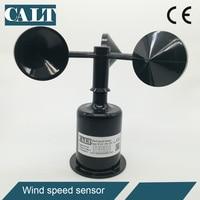 CALT 12 24 Vdc 3 cup wind speed sensor anemometer analog 4-20mA 0-5V digital RS485 modbus wind speed measuring instrument