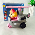 AUTOPS 1pcs Puppy Patrulla Canina Toys puppy patrol  Vehicle Car Spain Dog patrol Canine Toys with retail box Color Pink